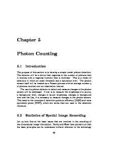 5.2 Statistics of Spatial Image Recording