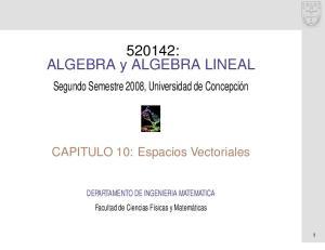 520142: ALGEBRA y ALGEBRA LINEAL