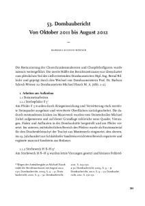 53. Dombaubericht Von Oktober 2011 bis August 2012