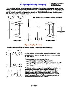 5.3 Spin-Spin Splitting J-Coupling