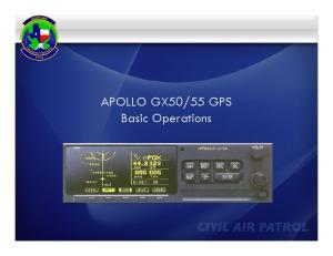 55 GPS Basic Operations