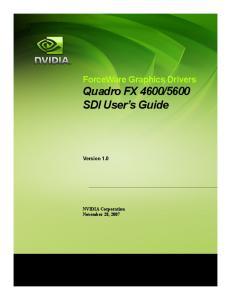 5600 SDI User s Guide. Version 1.0