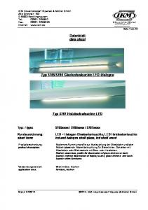 5706 Glasbodenleuchte LED+Halogen. Typ 5707 Holzbodenleuchte LED