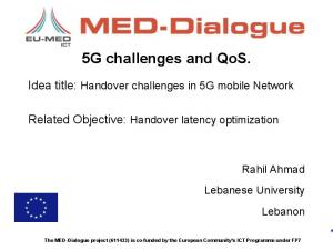 5G challenges and QoS