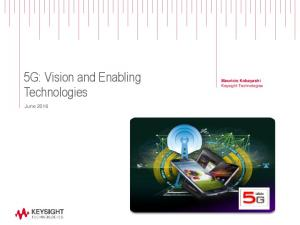5G: Vision and Enabling Technologies