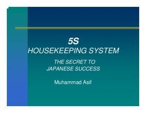 5S HOUSEKEEPING SYSTEM