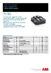 5SLD 1200J HiPak DIODE Module