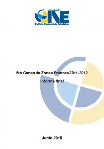 5to Censo de Zonas Francas Informe final