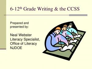 6-12 th Grade Writing & the CCSS
