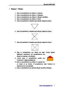 6. Crea el procedimiento necesario para dibujar la siguiente figura: 7. Crea el procedimiento necesario para dibujar la siguiente figura: