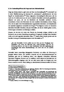 6. Der Denkmalbegriff und die Frage nach dem Nationaldenkmal