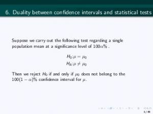 6. Duality between confidence intervals and statistical tests