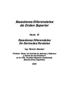 6 - Ecuaciones Diferenciales de Derivadas Parciales: