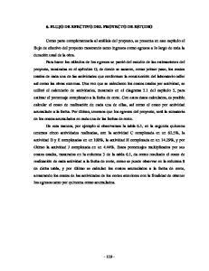 6. FLUJO DE EFECTIVO DEL PROYECTO DE ESTUDIO