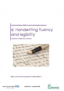6: Handwriting fluency and legibility