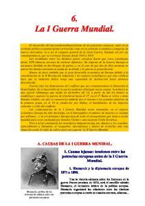 6. La I Guerra Mundial
