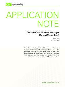 6 License Manager (EdiusLM.exe Tool)