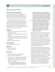 6 Macroeconomics LESSON 1