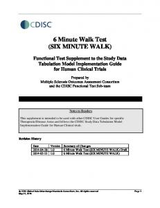 6 Minute Walk Test (SIX MINUTE WALK)