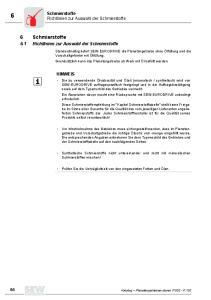 6 Schmierstoffe. Schmierstoffe. Richtlinien zur Auswahl der Schmierstoffe. 6.1 Richtlinien zur Auswahl der Schmierstoffe HINWEIS