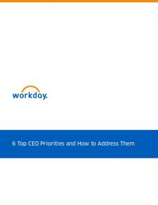 6 Top CEO Priorities and How to Address Them