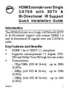 6 with 3DTV & Bi-Directional IR Support