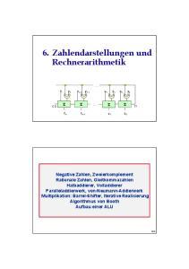 6. Zahlendarstellungen und Rechnerarithmetik