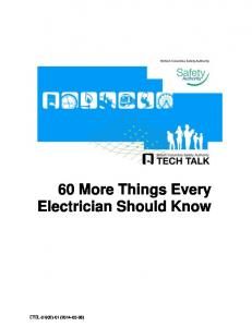 60 More Things Every Electrician Should Know