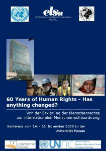 60 Years of Human Rights - Has anything changed?