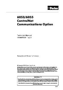 6055 ControlNet Communications Option