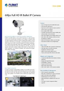 60fps Full HD IR Bullet IP Camera