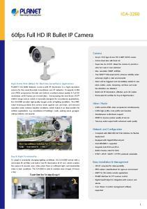 60fps Full HD IR Bullet IP Camera