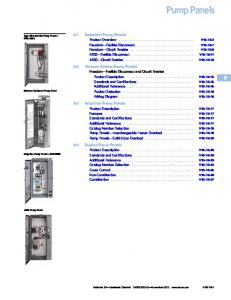 6.1 Industrial Pump Panels. 6.2 Vacuum Starter Pump Panels. 6.3 Irrigation Pump Panels. 6.4 Duplex Pump Panels