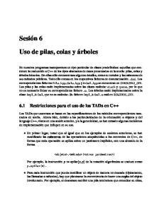6.1 Restricciones para el uso de los TADs en C++