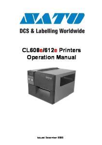 612e Printers Operation Manual
