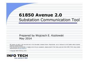 61850 Avenue 2.0 Substation Communication Tool