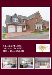 62 Mallard Drive Montrose, DD10 9ND Offers Over 360,000