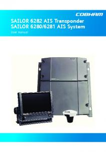 6281 AIS System. User manual
