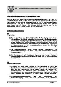 6.3 Abwasserbeseitigungssatzung der Inselgemeinde Juist