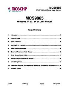 64 bit User Manual