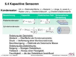 6.4 Kapazitive Sensoren