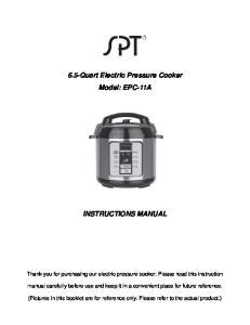 6.5-Quart Electric Pressure Cooker Model: EPC-11A