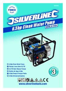 6.5hp Clean Water Pump