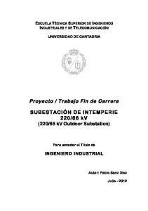 66 kv Outdoor Substation)