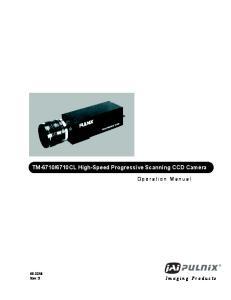 6710CL High-Speed Progressive Scanning CCD Camera