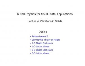 6.730 Physics for Solid State Applications