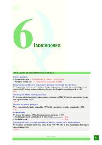 6INDICADORES INDICADORES DE SEGUIMIENTO DEL PROCESO