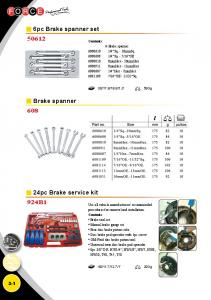 6pc Brake spanner set Brake spanner. 24pc Brake service kit 924B Contents: