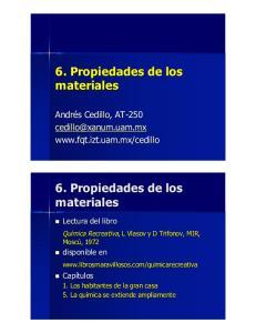 6.#Propiedades#de#los# materiales. 6.#Propiedades#de#los# materiales