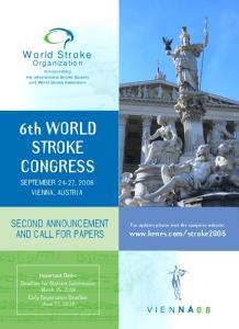 6th WORLD STROKE CONGRESS